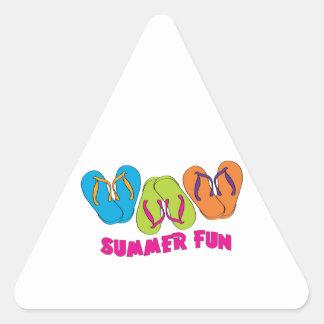 Summer Fun Triangle Sticker