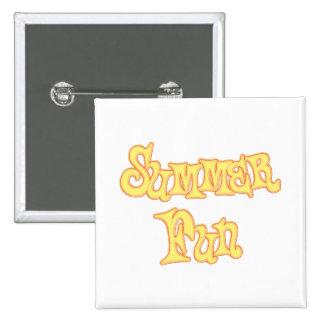 Summer Fun Text Design 2 Inch Square Button