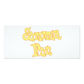 Summer Fun Text Design 4x9.25 Paper Invitation Card