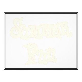 """Summer Fun Text Design 8.5"""" X 11"""" Flyer"""