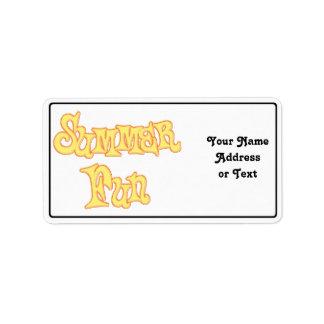 Summer Fun Text Design Address Label