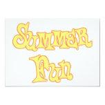 Summer Fun Text Design Custom Invitations