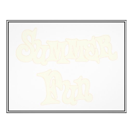 Summer Fun Text Design Flyer Design