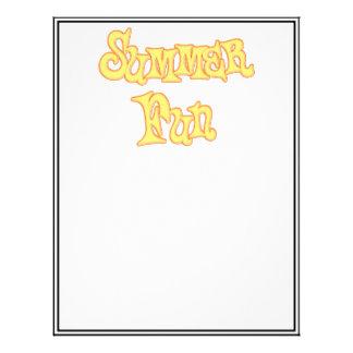 Summer Fun Text Design Letterhead