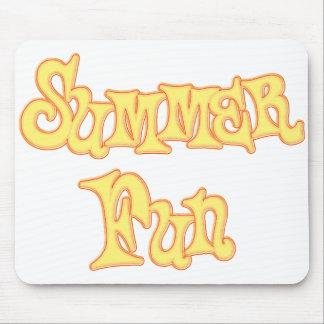 Summer Fun Text Design Mouse Pad
