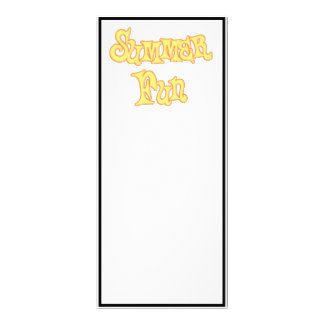 Summer Fun Text Design Personalized Rack Card