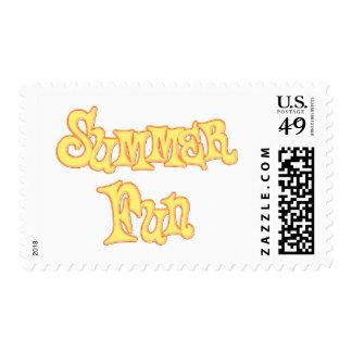 Summer Fun Text Design Postage Stamp