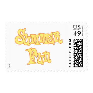 Summer Fun Text Design Postage Stamps
