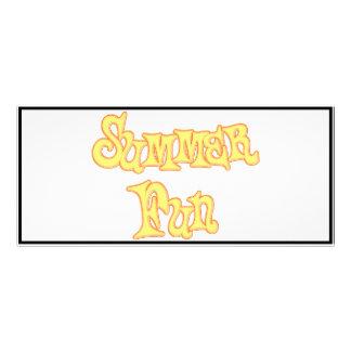 Summer Fun Text Design Rack Card Template