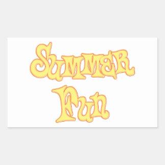 Summer Fun Text Design Rectangular Sticker