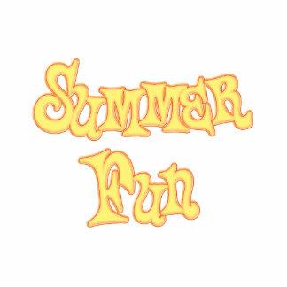 Summer Fun Text Design Standing Photo Sculpture