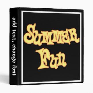 Summer Fun Text Design Vinyl Binder