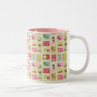 Summer Fun Two-Tone Coffee Mug