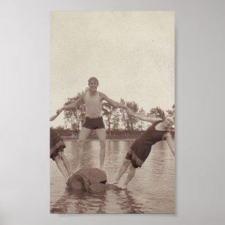 Summer Fun Vintage Photo Print