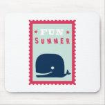 Summer Fun Whale Mousepads