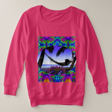 Beach Themed Summer Fun! Women's  Plus Jersey Sweatshirt