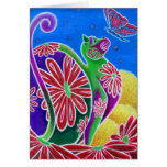 """""""Summer"""" Funky Cats Collection Cards"""