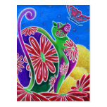 """""""Summer"""" Funky Cats Collection Postcard"""