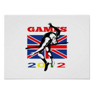 Summer Games 2012 High Jump Track and Field Print