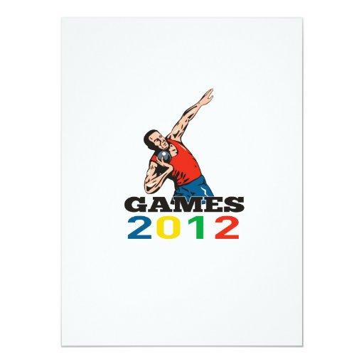 Summer Games 2012 Shot Put Throw 5.5x7.5 Paper Invitation Card