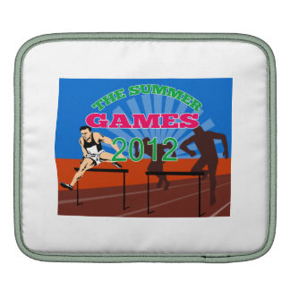 Summer Games 2012 Track and Field Hurdles iPad Sleeve