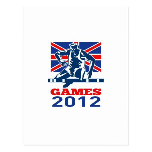 Summer Games 2012 Track and Field Hurdles Postcard