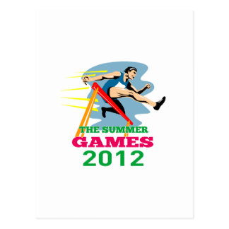 Summer Games 2012 Track and Field Hurdles Post Cards