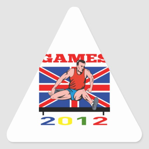Summer Games 2012 Track and Field Hurdles Triangle Sticker