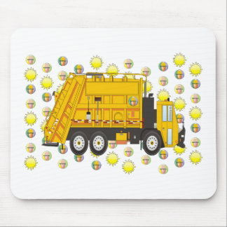 Summer Garbage Truck August Mouse Pad