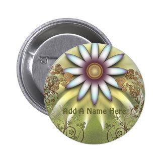 Summer Garden 2 Inch Round Button