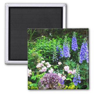 Summer Garden 2 Inch Square Magnet