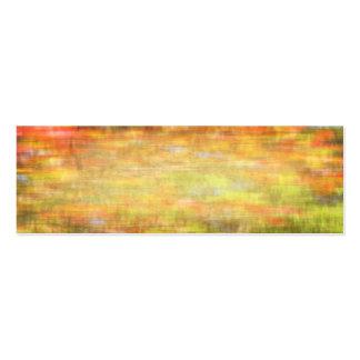 Summer garden abstract woven texture mini business card