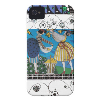 SUMMER GARDEN AND SWIRLS /FASHION COSTUME DESIGNER Case-Mate iPhone 4 CASE