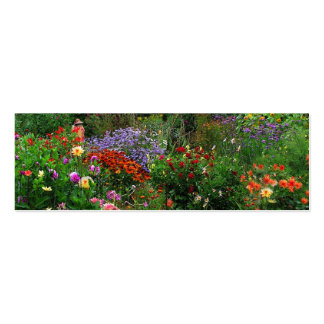Summer Garden Bookmark Double-Sided Mini Business Cards (Pack Of 20)