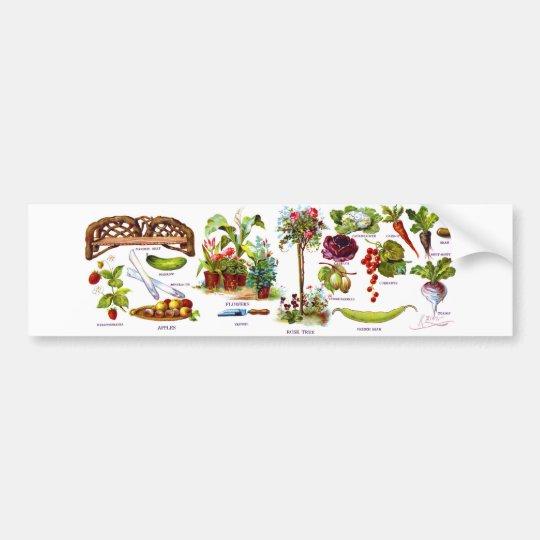 Summer Garden Botanicals Bumper Sticker