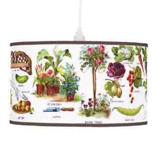 Summer Garden Botanicals Gardening Pendant Lamp