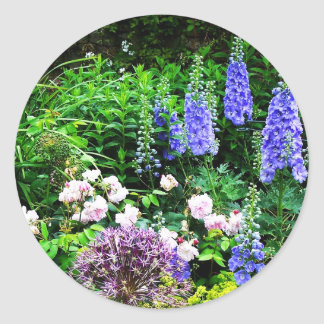 Summer Garden Classic Round Sticker
