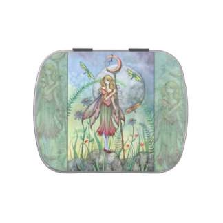 Summer Garden Fairy Art by Molly Harrison Jelly Belly Candy Tin