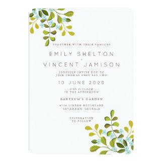 Summer Garden Floral Wedding Suite Invitation