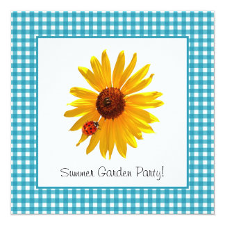 Summer Garden Party Sunflower Picnic Card