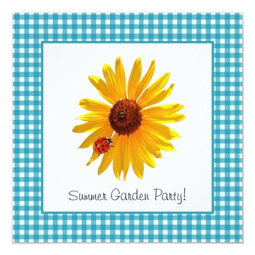 Summer Garden Party Sunflower Picnic Invitation