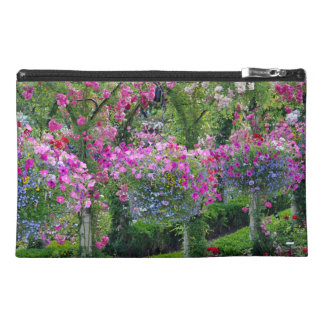 Summer garden print travel bag travel accessory bag