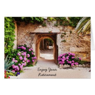 Summer Garden Retirement Card