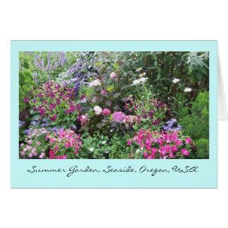"""""""Summer Garden,Seaside,Oregon,USA"""" Card"""