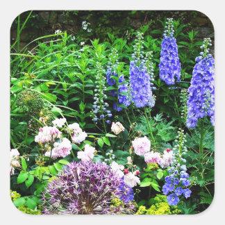 Summer Garden Square Sticker