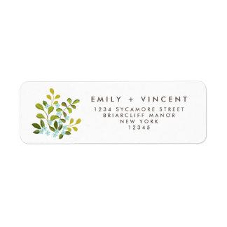 Summer Garden Wildflower Floral Return Address Label