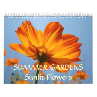 SUMMER GARDENS Calendar Sunlit Flowers Gifts