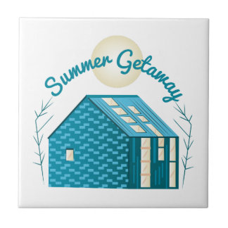 Summer Getaway Small Square Tile