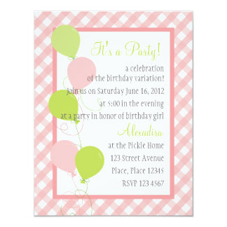 Summer Gingham and Balloons Card