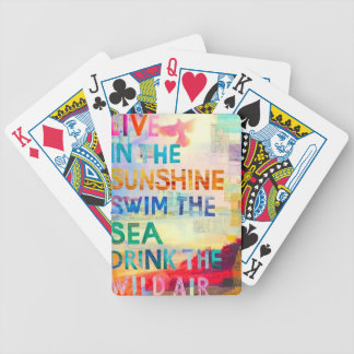 Summer Girl Bicycle Playing Cards